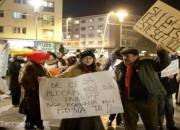 Proteste violente în Piaţa Tricolorului